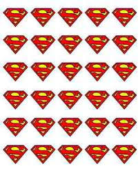 superman cake toppers 30 x superman logo badge cupcake toppers edible wafer paper fairy