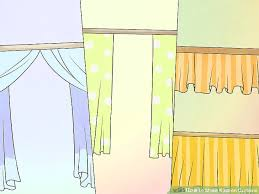 How To Calculate Yardage For Curtains How To Make Kitchen Curtains 12 Steps With Pictures Wikihow