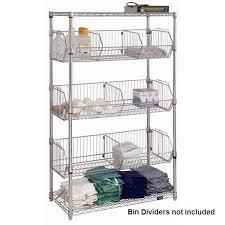 wire basket shelves chrome wire basket shelving 4 shelves ikea