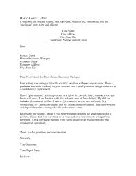 cover letter simple sample cover letter for resume free simple