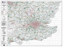 Map Of Southern England by Os Administrative Boundary Map Local Government Sheet 9 South