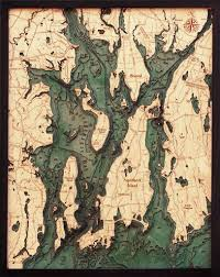 narragansett newport rhode island 3 d nautical wood chart ei home