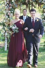 Wine Colored Bridesmaid Dresses Real Weddings Kristen Ben Slate Pallets And Wine