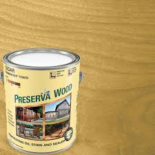 Longest Lasting Cedar Deck Stain by Preserva Wood 1 Gal Oil Based Cedar Penetrating Stain And Sealer