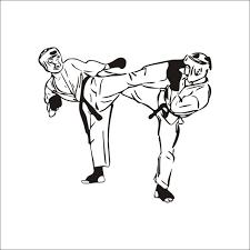 sport en chambre x enthousiasme taekwondo arts martiaux motif papier peint stickers