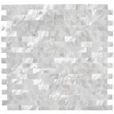 groutless kitchen backsplash show white brick groutless pearl tile bathroom