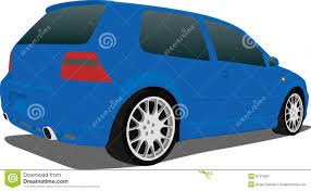 volkswagen gti blue blue vw gti stock photography image 8731662
