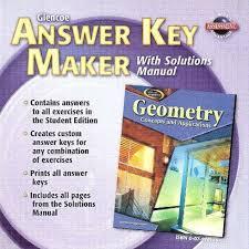 glencoe answer key maker with solutions manual cd rom glencoe