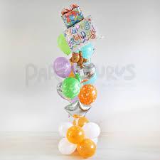 balloon bouquest flying balloon bouquet partysaurusland