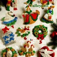 vintage u0026 discontinued bucilla christmas felt u0026 cross stitch kits