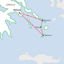 Greece Islands Map by Greek Island Hopper 10 Days Hopping Around Greek Islands