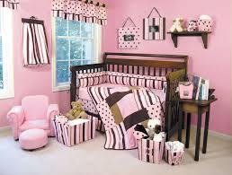 Pink Brown Crib Bedding Pink Brown Polka Dot Baby Bedding Baby Bed