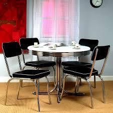 shop tms furniture retro black dining set with round dining table