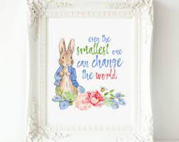 beatrix potter rabbit nursery rabbit nursery artwork rabbit small things can