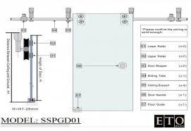 Barn Door Hardware Track System by Door Bypass Door Hardware Kit Stanley Barn Door Track System