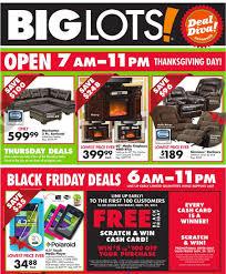 thanksgiving brings black friday deals at big lots bargains on