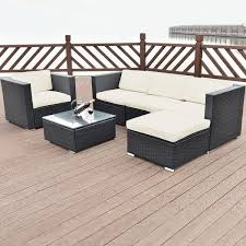 Patio Furniture Set 6 Pcs Patio Rattan Furniture Set Outdoor Furniture Sets