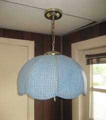 Wicker Pendant Light by Vtg 1960s Retro Mid Century Hanging Light Fixture Blue Rattan
