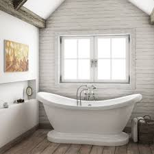 House Plumbing by Oakland 1750 Double Ended Roll Top Slipper Bath With Skirt Bath