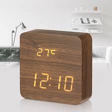 wall mounted digital alarm clock digoo dg ac1 wooden led digital alarm clock multifunctional 2 mode