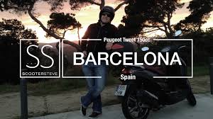 peugeot spain barcelona peugeot tweet 125cc u2013 from dusk u0027til dawn u2013 scootersteve