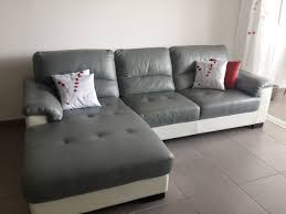 canap cuir mobilier de canapé 3 places meridienne clasf