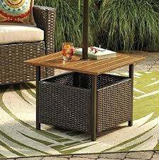 side table wicker patio side table large size of mainstays all