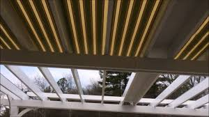 Retractable Pergola Awning by Roll Flex Retractable Pergola Canopy Youtube
