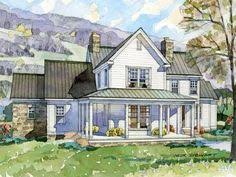 Large Farmhouse Floor Plans 2 Story House Plan With Covered Front Porch Car Garage Porch