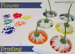 spring painting ideas flower printing learning 4 kids