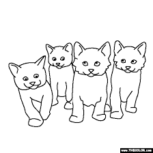 baby kittens coloring free download