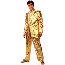 advanced graphics elvis presley in gold suit life size cardboard