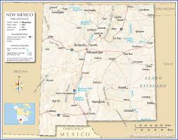 Mexico City Airport Map by Reference Map Of New Mexico Usa Nations Online Project