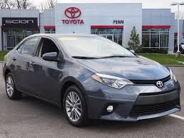 toyota corolla 2014 gray certified pre owned 2014 toyota corolla le 4dr car in greenvale
