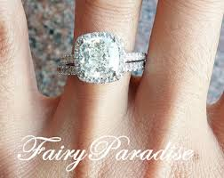 3 carat diamond engagement ring made diamond engagement promise rings by fairyparadise