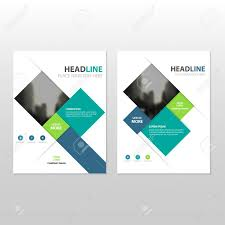 cover layout com blue green square vector annual report leaflet brochure flyer