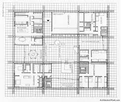 Floor Plans Of My House Ground Floor Plan Of The Miller House 1957 Eero Saarinen
