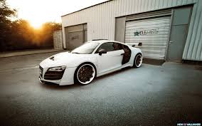 modified cars wallpapers modified audi r8 car white black widescreen wallpapers for free