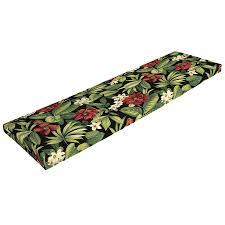 Patio Bench Cushion by Shop Garden Treasures Sanibel Black Tropical Patio Bench Cushion