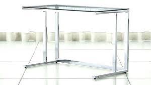 computer desk glass metal glass and chrome desk amicicafe co