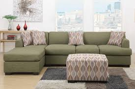 L Shaped Sofa With Chaise Lounge by Green Fabric Chaise Lounge Steal A Sofa Furniture Outlet Los
