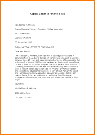 financial aid appeal letter sample appeal letter to financial aid