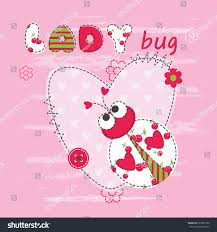 baby background cute ladybug baby shower stock vector 325867250