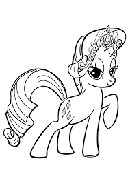 pony rarity coloring pages kids printable free