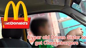 boy drives to mcdonalds drive thru for cheeseburger 8 year
