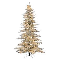 sterling 7 5 ft pre lit led flocked wyoming snow pine christmas