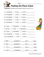 place value worksheets page 2 of 5 have fun teaching