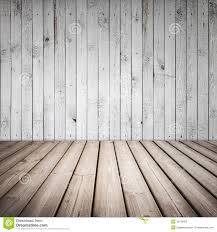 Wooden Interior Empty Wooden Interior With White Wall Royalty Free Stock Image