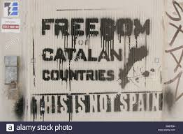 catalan independence graffiti stock photos u0026 catalan independence
