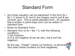 7 standard form any linear